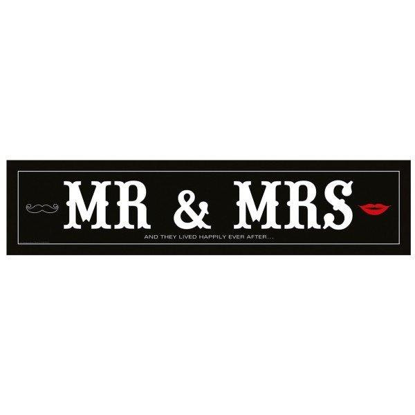 Tablica Rejestracyjna MR & MRS 1szt TRMR
