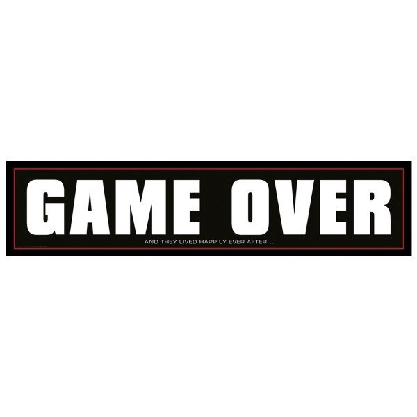 Tablica Rejestracyjna Game Over 1szt TRGO