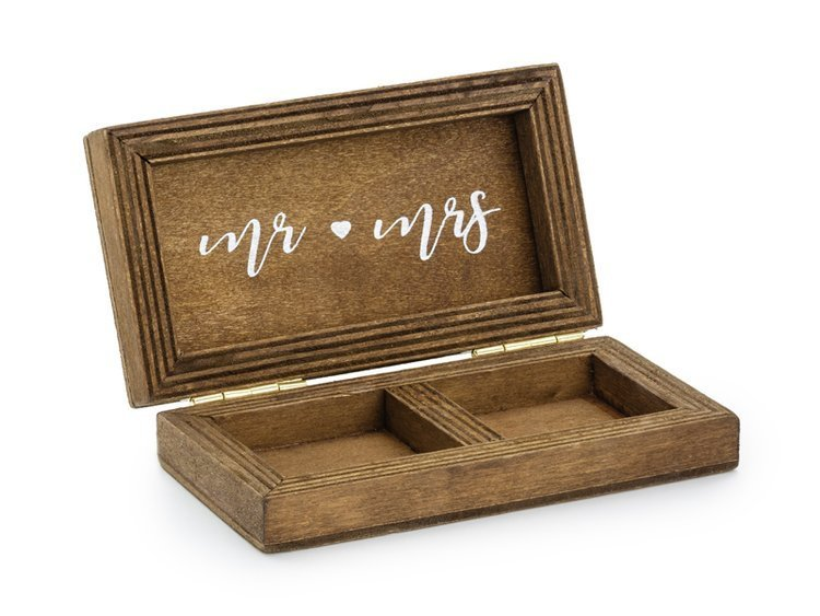 Drewniane pudełko na obrączki 10x5.5cm PKWD2