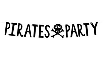 Baner Piraci - Pirates Party 14x100cm 1szt. GRL86-010