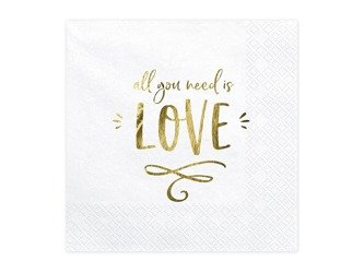 Serwetki All you need is love 33 x 33cm 20 sztuk SP33-75-008-019