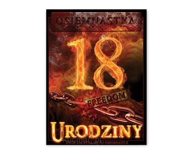Bardzo dobra Etykiety na butelki 18 urodziny 25szt e801   Kucmar.pl DQ97
