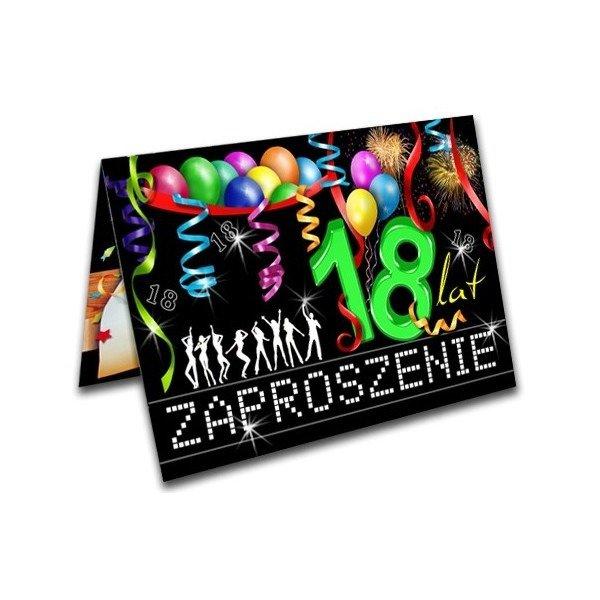 Zaproszenie Na 18 Urodziny Osiemnastkę Zx8300 Kucmarpl
