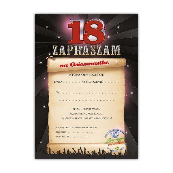 Zaproszenie Na 18 Urodziny Z Kopertą Zx8800 Kucmarpl