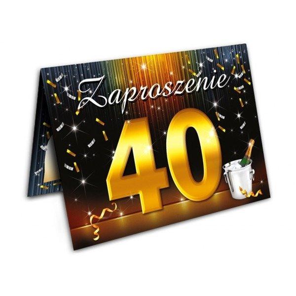 Zaproszenie Na 40ste 40 Urodziny Z Kopertą Zx6800 Kucmarpl