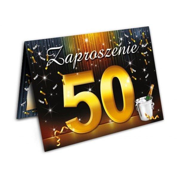 Zaproszenie Na 50tkę 50 Urodziny Z Kopertą Zx6801