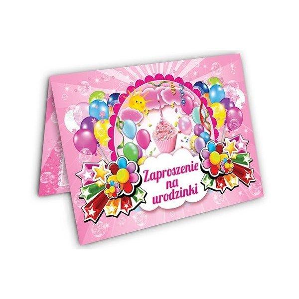 Zaproszenie Na Urodziny Dla Dziewczynki Zx6905 Kucmarpl