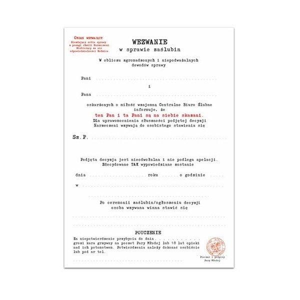 Zaproszenie ślubne Cbś Z Kopertą Zx9500 Kucmarpl