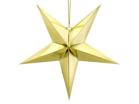 Gwiazda betlejemska ozdoba wisząca złota
